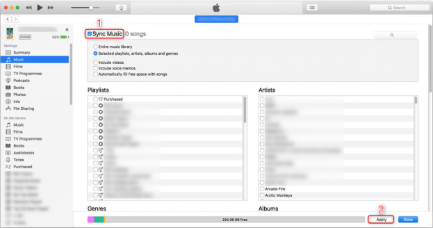 How to Delete Music from iPhone But Not iTunes via iTunes