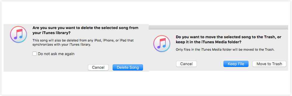 Delete Music from iTunes – Step 4
