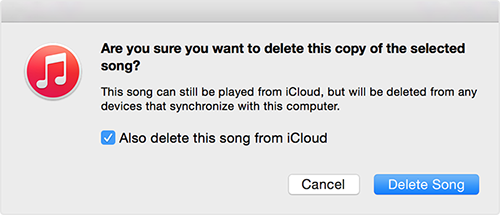 How to Delete Songs from iCloud – Step 3