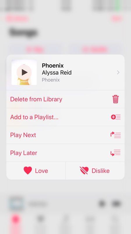 Delete Songs from iPhone X/XS(Max)/XR in Music App - Step 2