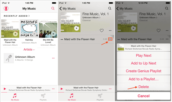 How to Delete Songs from iPod touch Directly