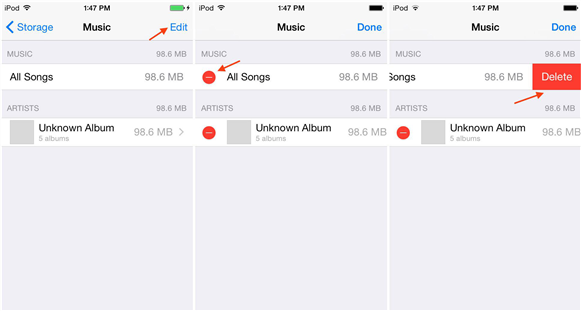 How to Delete All Songs from iPod touch in Settings