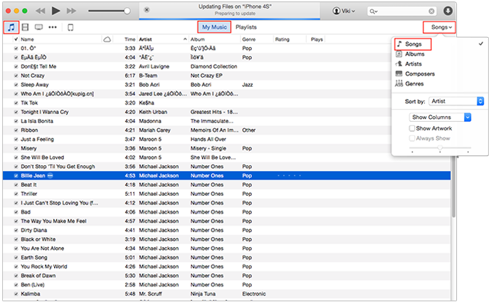 How to Delete Songs from iPod/iPod touch with iTunes – Method 2