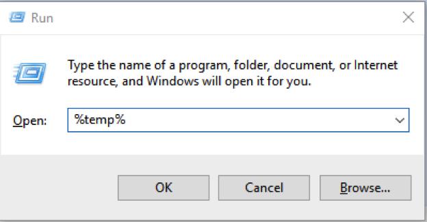 Delete Temp Files on Windows 7 Manually – Step 1