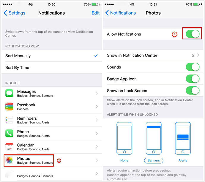How to Disable All Photo Stream Notifications