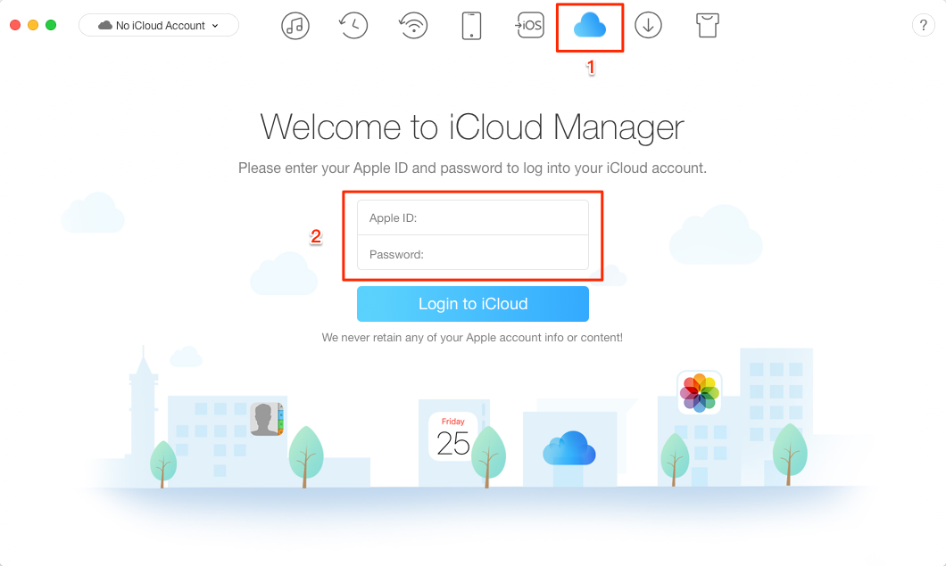 How to Download All Photos from iCloud with AnyTrans for iOS – Step 1