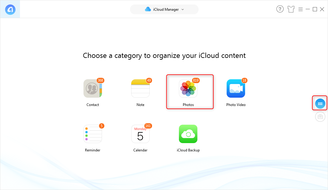How to Download All Photos from iCloud with AnyTrans for iOS – Step 3