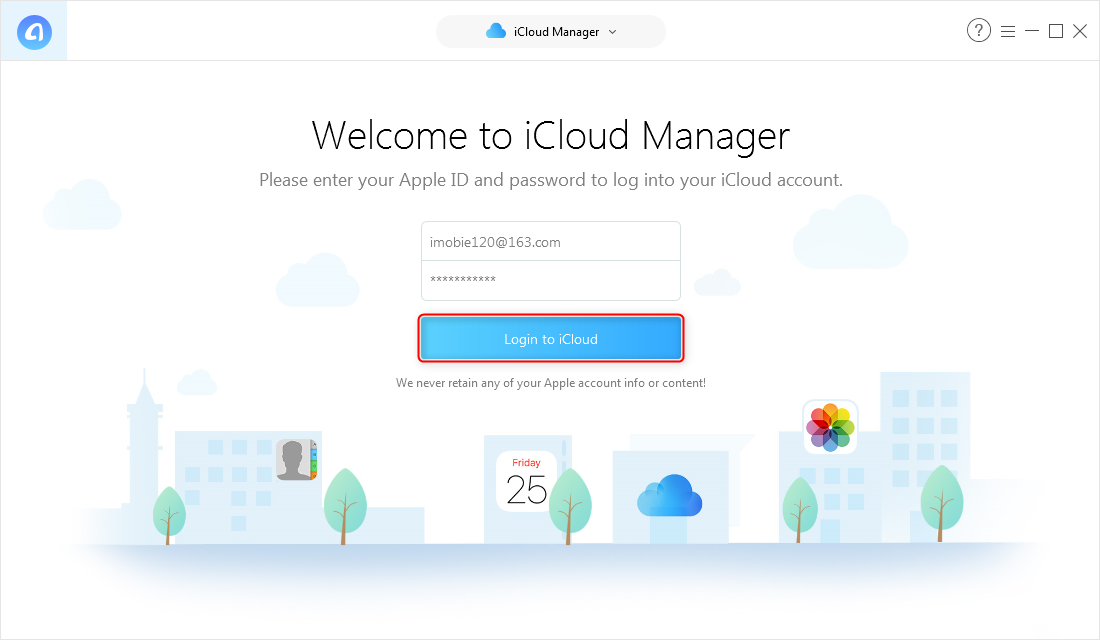 How to Download An Album from iCloud with AnyTrans for iOS - Step 2