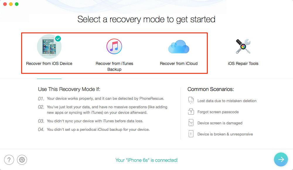 App Data Recovery for iOS Device