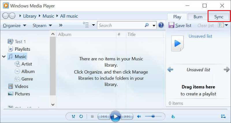 Download Music on Samsung using Windows Media Player - Step 2
