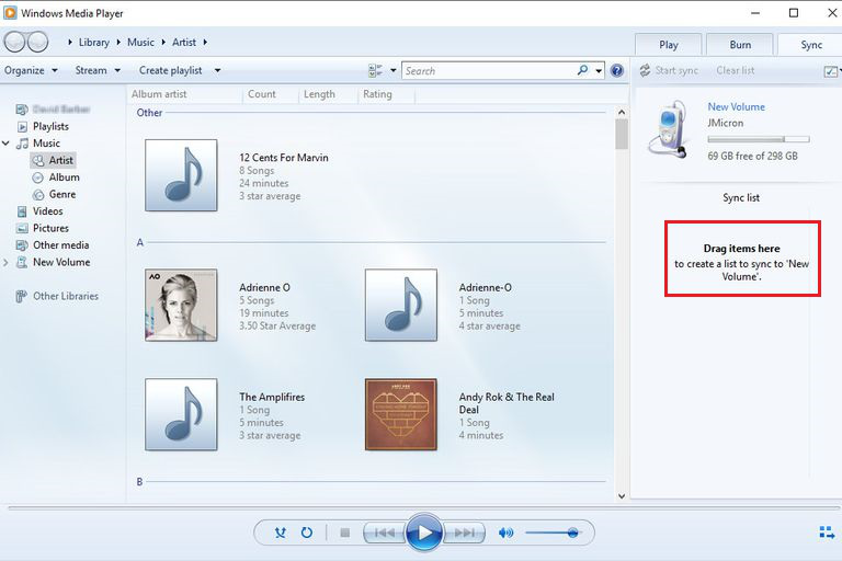 Download Music on Samsung using Windows Media Player - Step 3