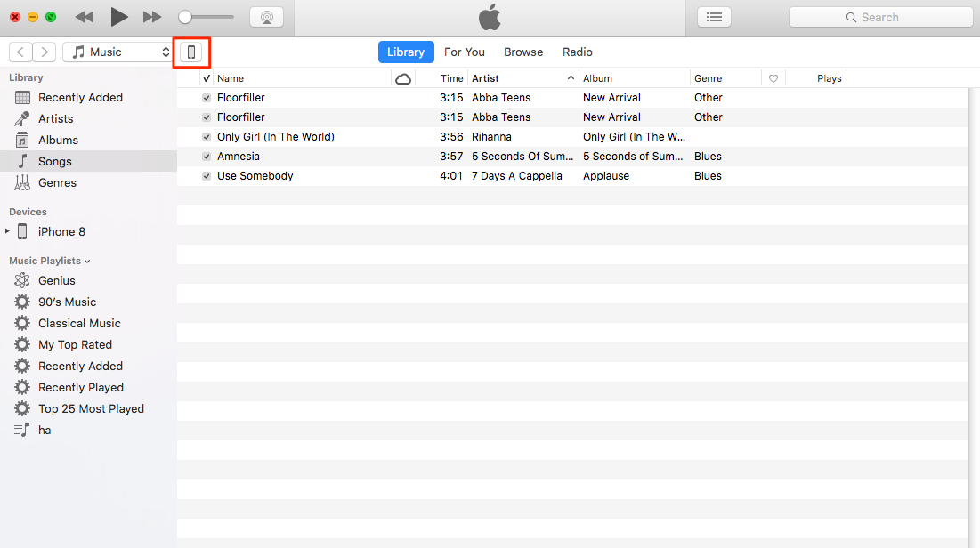 How to Download Music from iTunes to iPhone - Step 1