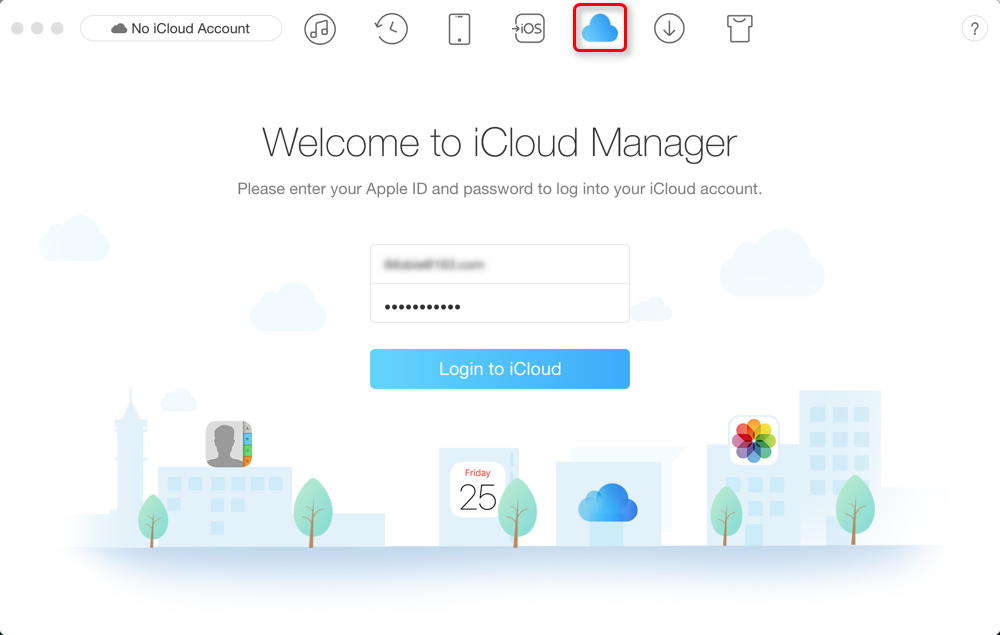 How to Download Photos from iCloud to iPhone 8 (Plus)/X - Sign in