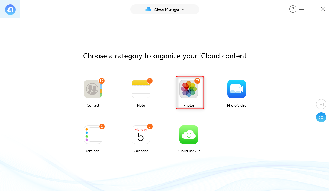 How to Download Photos from iCloud to iPhone X/XS (Max)/XR – Step 2