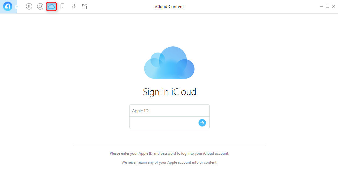 How to Download iCloud Reminders with AnyTrans - Step 1