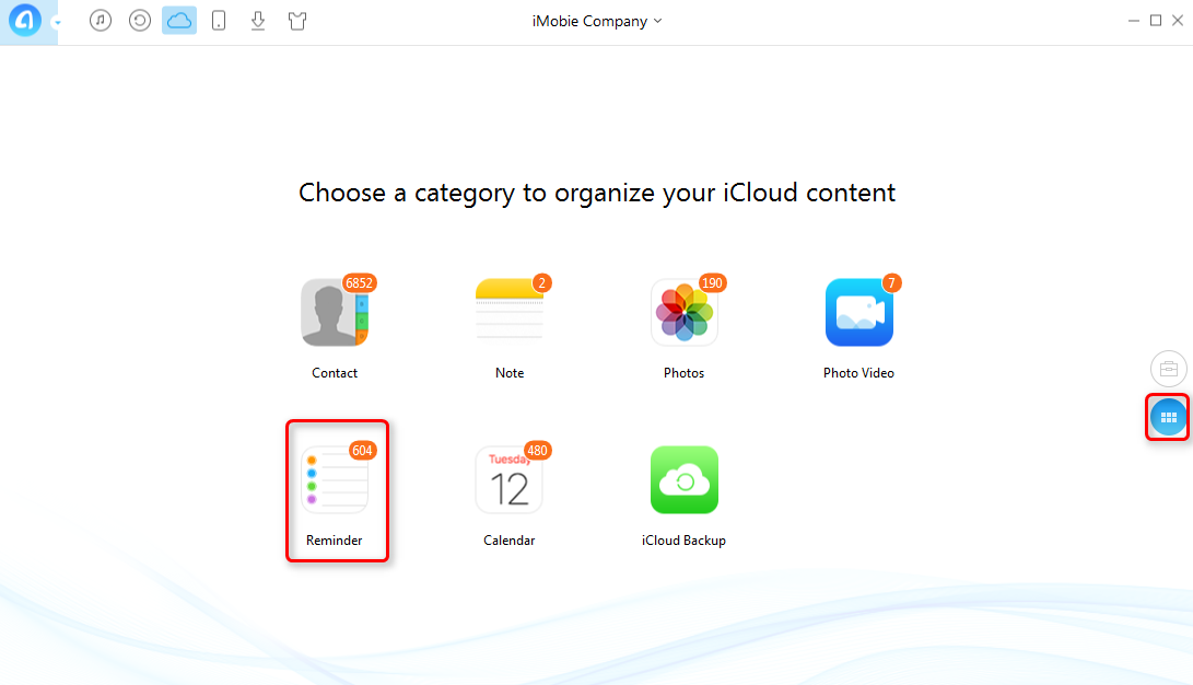 How to Download iCloud Reminders with AnyTrans - Step 2