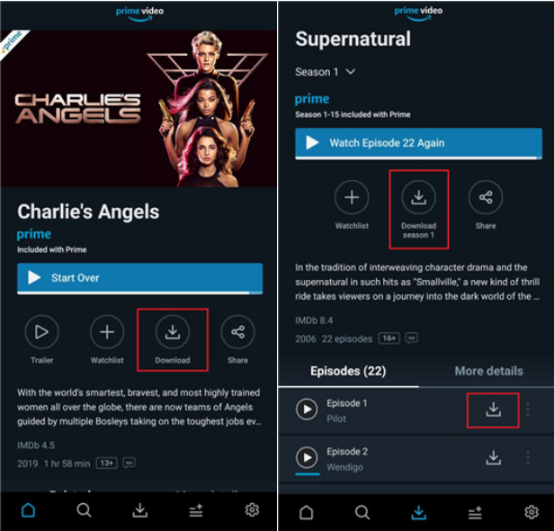 Download Videos to Android from Prime Video
