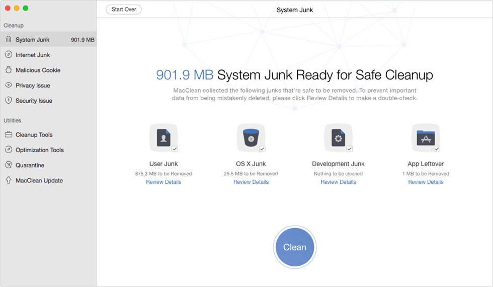 How to Clean Internet Junk Files and More on Mac with MacClean