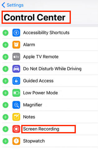 How to Enable Screen Recording in iOS 11 on iPhone - Step 2