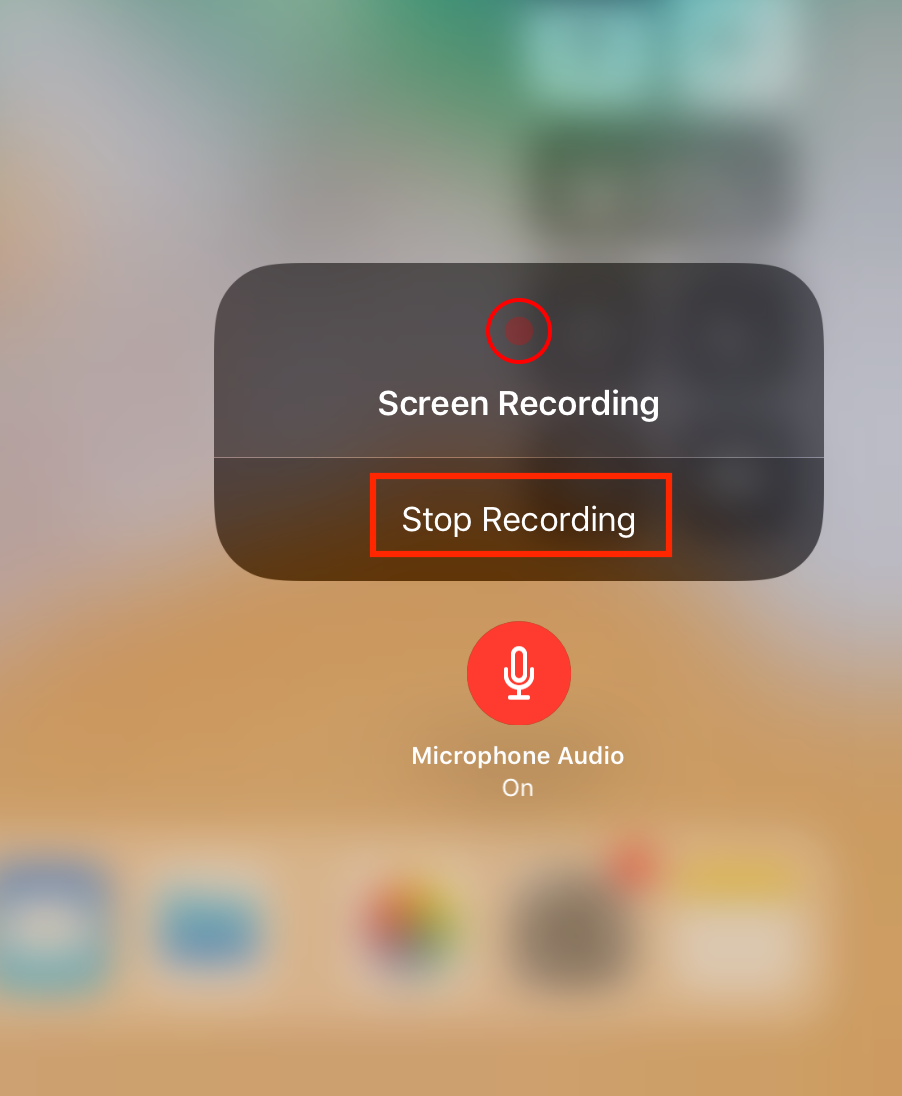 How to Record Screen on iPhone in iOS 11 - Step 3