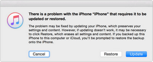Restore or Update iPhone with iTunes
