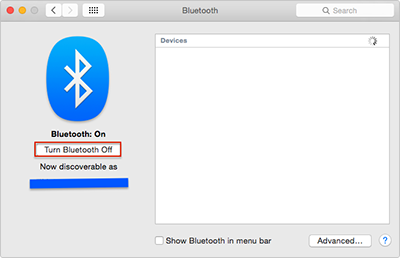 Improve MacBook Battery Life – Close Bluetooth