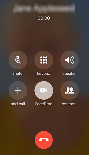 Place a FaceTime Call on iPhone