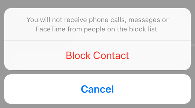 Confirm the Block Prompt