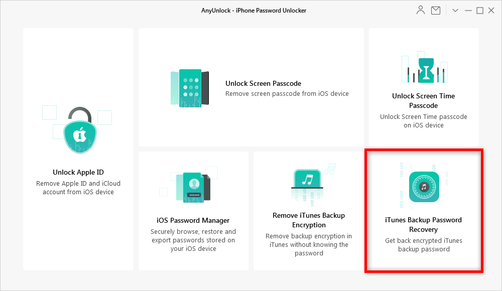 How to Find iPhone Backup Passwords via AnyUnlock