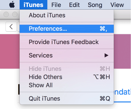 How to Change iTunes Library Location on Mac - Step 2