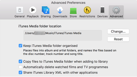 How to Change iTunes Library Location on Mac - Step 3