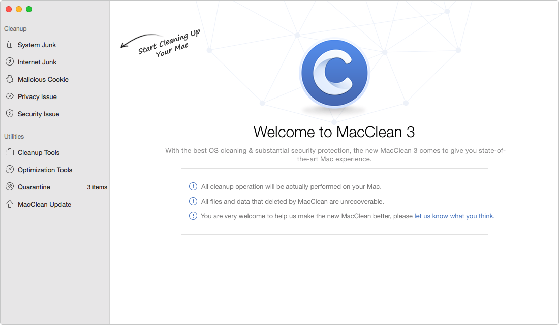 How to Find Malware on Mac with MacClean – Step 1