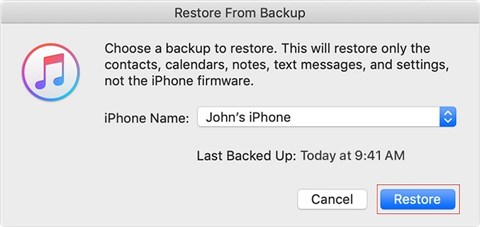 How to Fix Apps Not Opening on iPhone Issue - Restore iPhone - Step 3