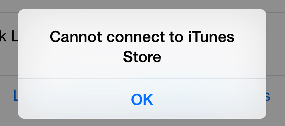 cannot connect to itunes store iphone fixes to the quot cannot connect to itunes app quot error 7754