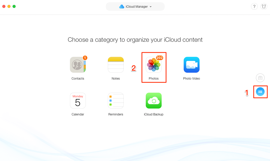 How to Download Photos from iCloud - Step 3