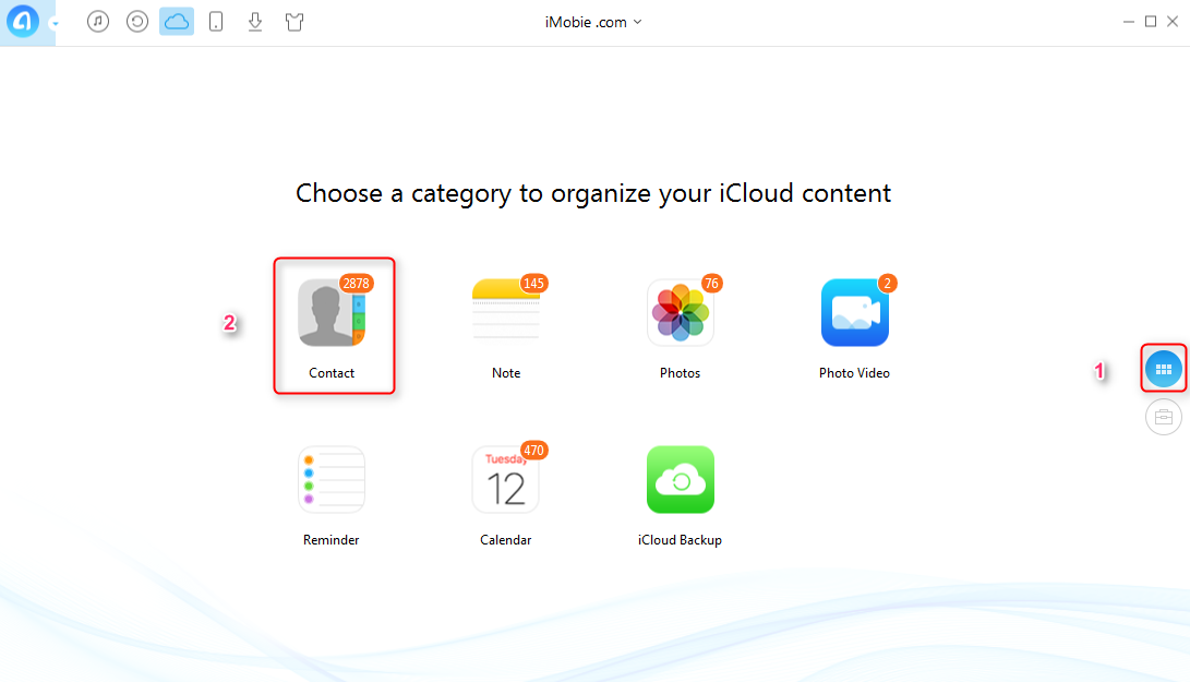 How to Export vCard from iCloud with AnyTrans - Step 2