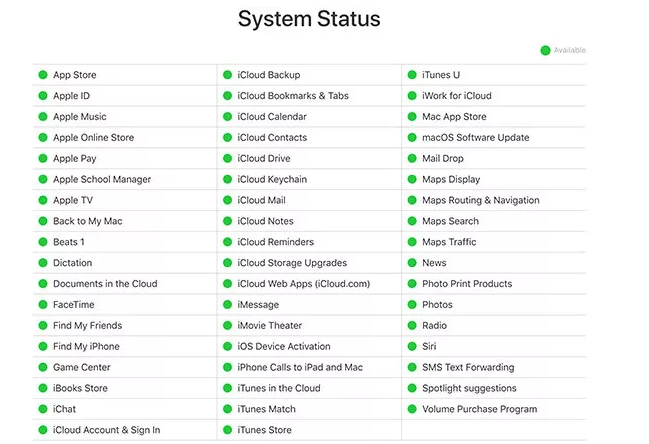 Why is My iCloud Not Working & How to Fix It via Check iCloud Server System Status