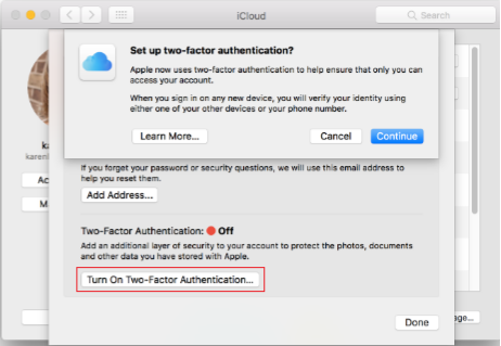 Fix iCloud Password Not Working on Mac via Two-Step Verification