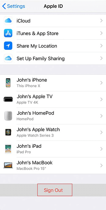 Fix iCloud Password Not Working on iPhone/iPad via Sign Out