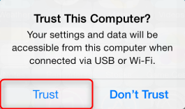 How to Fix Image Capture Not Working - Re-trust Your iPhone