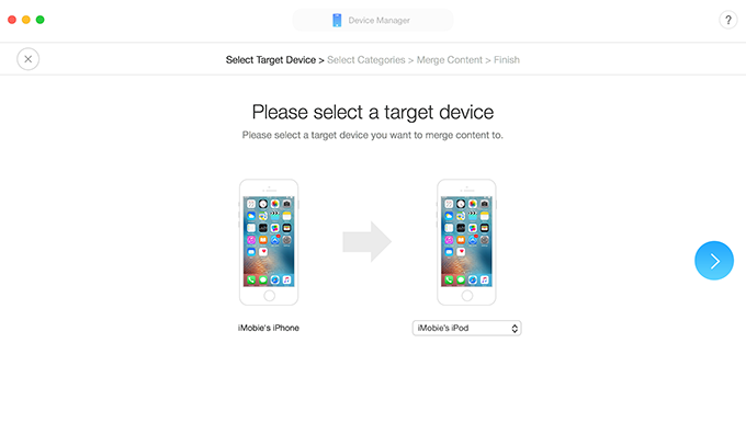 Sync iMessages via AnyTrans for iOS – Step 2