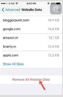 Clean Website History & Data