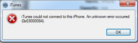 iPhone 0xe8000084 Error