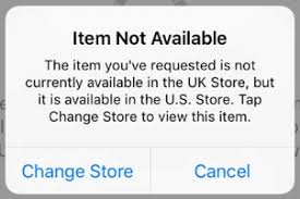 The Items You've Requested is Not Currently Available in Your Country