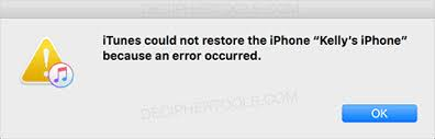 Why iTunes Could Not Restore the iPhone XS