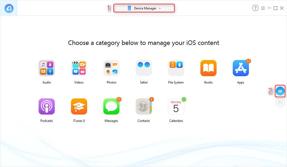 How to Transfer iPhone DCIM Folder Photos to Computer via AnyTrans for iOS - Step 1