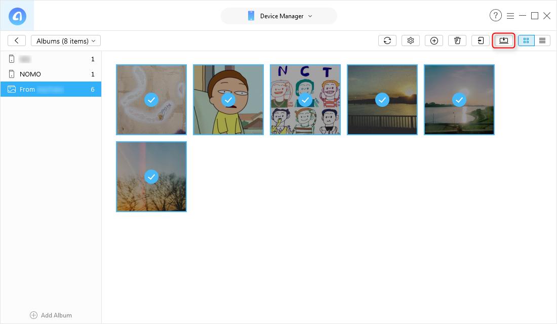 How to Transfer iPhone DCIM Folder Photos to Computer via AnyTrans for iOS - Step 3