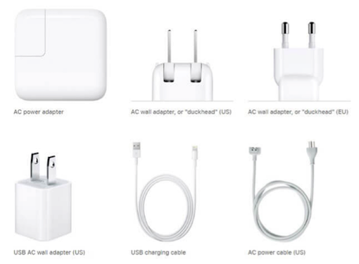 Selected Original Charging Devices for iPhone by Apple