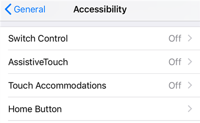 Access the AssistiveTouch feature on your iPhone