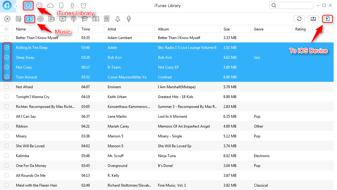 How to Rebuild iTunes Music Library with AnyTrans - Step 1